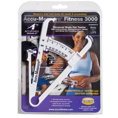 Accu Measure Fitness 3000 Personal Body Fat Caliper Measurement Tool