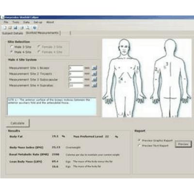 Harpenden Body Fat Analysis Software