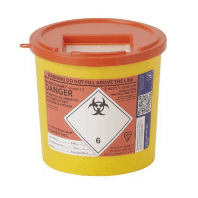 2.5L Sharps Bin - Orange