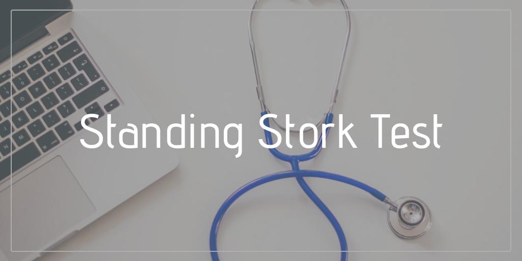 standing stork test